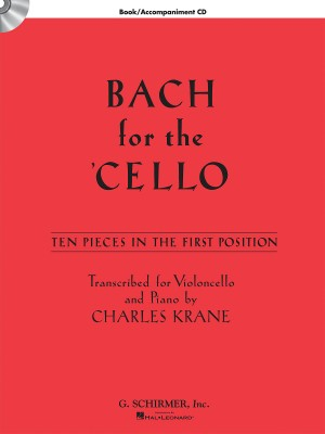 J.S. Bach: Bach For The Cello - 10 Easy Pieces In 1st Position (Book/Online Audio)
