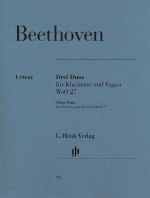 Ludwig van Beethoven: Three Duos for Clarinet and Bassoon WoO.27