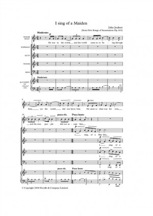 John Joubert: I Sing Of A Maiden (Five Songs Of Incarnation) - Tenor/SATB