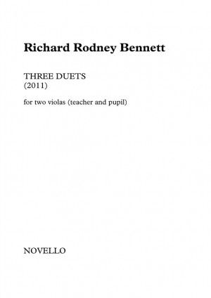 Richard Rodney Bennett: Three Duets for Two Violas (Teacher and Pupil)
