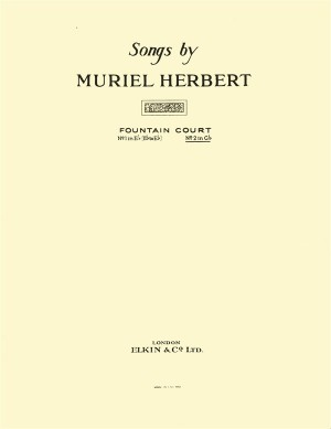 Muriel Herbert: Fountain Court (High Voice/Piano) Product Image