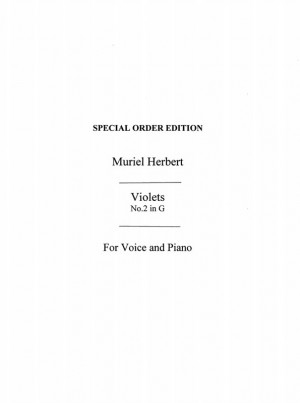 M. Herbert: M Violets High Voice And Piano (G Major) Product Image