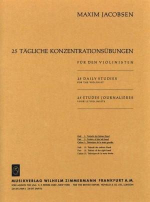 Jacobsen: 25 tägliche Konzentrationsübungen Heft 1: Die Technik der linken Hand Product Image
