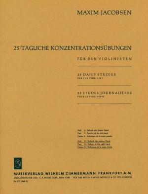Jacobsen: 25 tägliche Konzentrationsübungen Heft 2: Die Technik der rechten Hand Product Image
