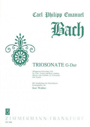 Bach, C P E: Trio Sonata G major Wq 152