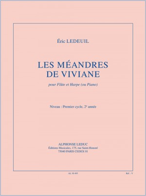 Eric_Éric Ledeuil: The Meanders of Vivian, for Flute and Harp