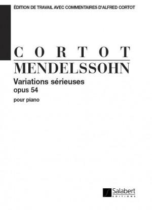 Mendelssohn: Variations sérieuses Op.54 (ed. A.Cortot)
