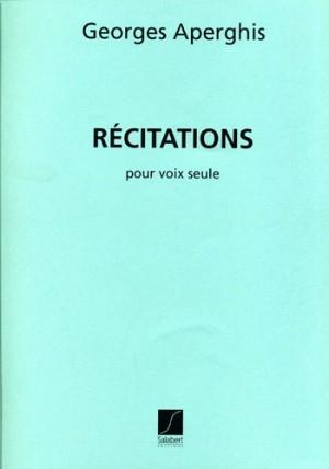 Aperghis: Récitations (EAS19951)