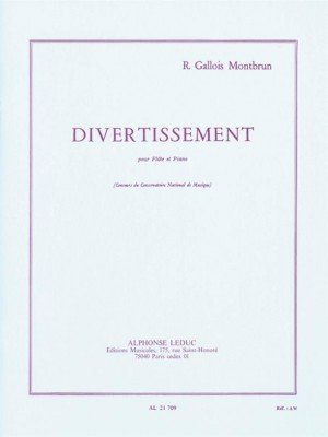 Raymond Gallois-Montbrun: Divertissement
