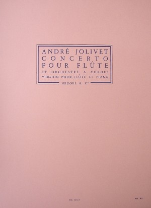André Jolivet: Concerto For Flute And String Orchestra