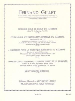 Ferdinand Gillet: Exercises For Advanced Oboe Technique