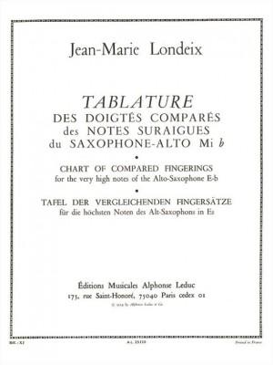 Jean-Marie Londeix: Tablature des Doigtes compares des Notes suraigues