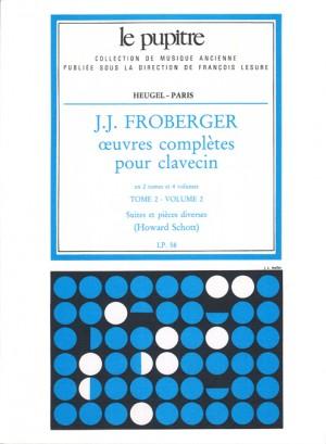 Johann Jakob Froberger: Oeuvres Complètes Pour Clavecin Book 2 Vol.2