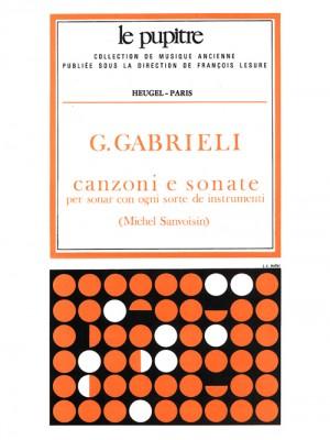Giovanni Gabrieli: Canzoni e Sonate pour divers Instruments