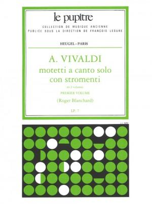 Antonio Vivaldi: Motetti A Canto Solo Con Strings Vol. 1