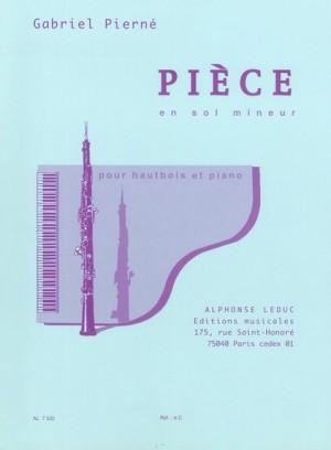 Gabriel Pierné: Piece in G minor (Oboe and Piano)