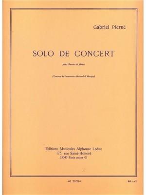 Pierne: Solo de concert pour basson et piano.