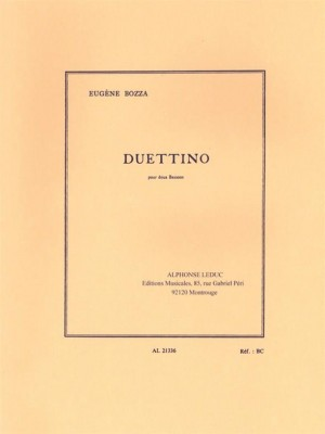 Eugène Bozza: Duettino For Two Bassoons