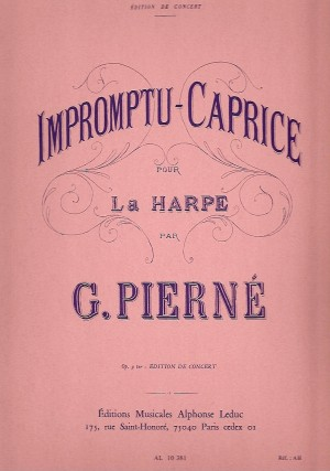 Pierne: Impromptu-Caprice for Harp