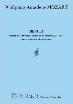 Mozart: Menuet du Divertimento No.17, KV334
