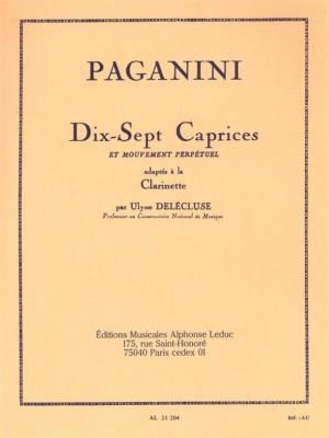 Niccolò Paganini_Delecluse: 17 Caprices for Clarinet