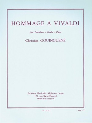 Christian Gouinguené: Hommage A Vivaldi - Double Bass And Piano