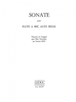 Carl Philipp Emanuel Bach: Sonata for Treble Recorder