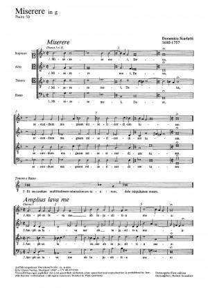 Scarlatti: Miserere in g (g-Moll)