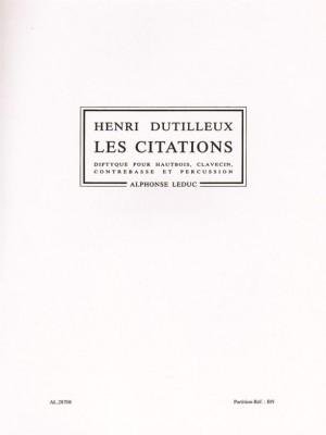 Henri Dutilleux: Henri Dutilleux: Les Citations
