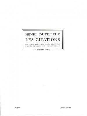 Henri Dutilleux: Henri Dutilleux: Les Citations, Diptyque