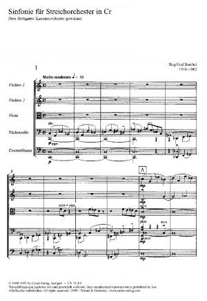 Barchet: Sinfonie für Streicher in C (C-Dur)