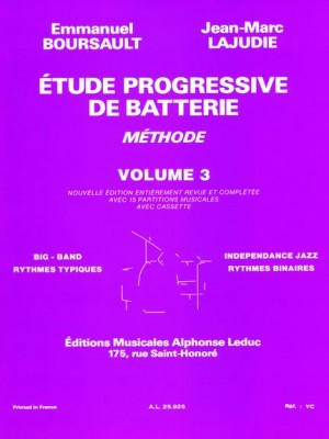 Emmanuel Boursault: Etude Progressive de Batterie 3