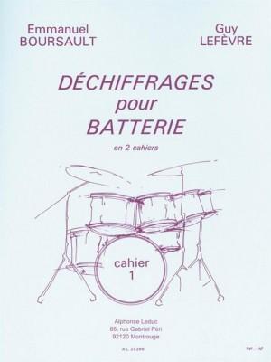 Emmanuel Boursault, Guy Lefèvre: Reading rhythms for Drums - Vol. 1 (Drums)