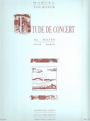 Michel Tournier: Au Matin, étude de concert pour harpe