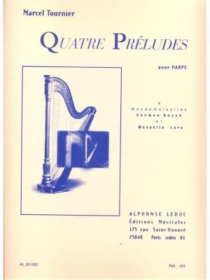 M. Tournier: Quatre préludes pour harpe