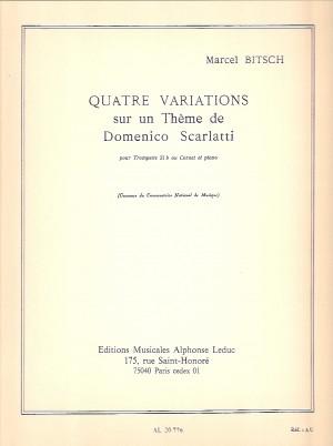 Marcel Bitsch: 4 Variations Sur Un Theme De D Scarlatti