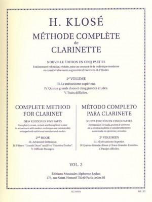 Hyacinthe-Eléonore Klosé: Méthode Complète de Clarinette Volume 2