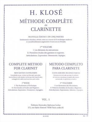 Hyacinthe-Eléonore Klosé: Méthode Complète de Clarinette Volume 1