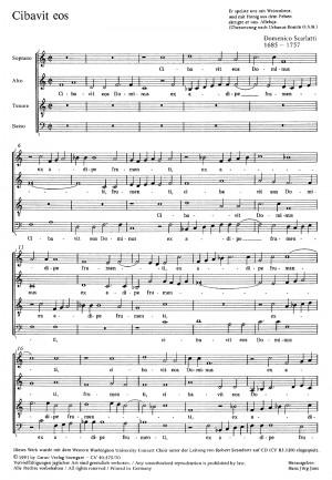 Scarlatti: Cibavit eos