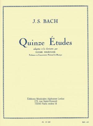 Johann Sebastian Bach: 15 Études For Clarinet Product Image