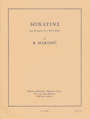 Bohuslav Martinu: Sonatine For Trumpet And Piano