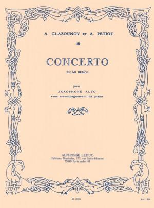 Alexander Glazunov_A. Petiot: Concerto op. 109 en mi bemol