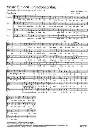 Bruckner: Messe für den Gründonnerstag (WAB 9)