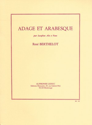 René Berthelot: Adage and Arabesque (Alto Saxophone and Piano)