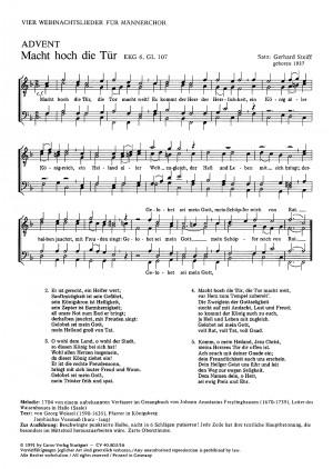 Steiff: Vier Weihnachtschoräle für Männerchor
