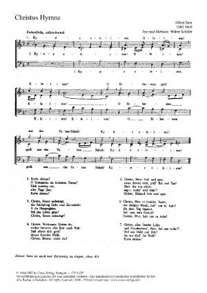 Stier: Christus-Hymne; Daß wir`s getroster wagen