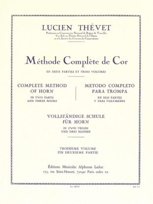 Lucien Thévet Méthode Complète De Cor Vol.3 French Horn Sheet Music Instrumenta
