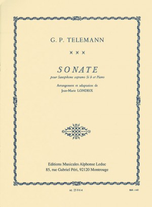 Georg Philipp Telemann: Sonata For Soprano Saxophone And Piano