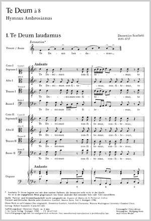 Scarlatti: Te Deum a 8 (C-Dur)
