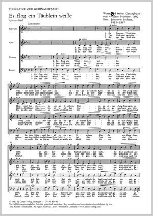 Brahms: Drei Weihnachtschorsätze von Brahms, Distler und Kaminski